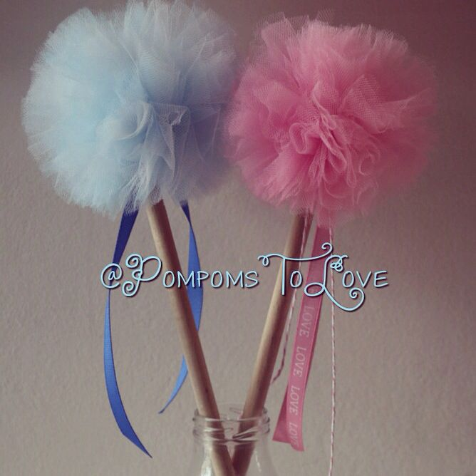 Baby shower?... Know what ur having? Decorate with pom pom wands.