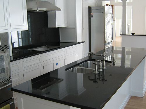 Black Granite Kitchen Countertops.