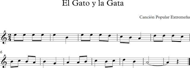 El Gato y la Gata. Canción Popular Extremeña.