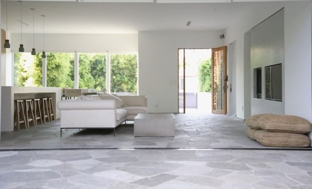 Seamless indoor outdoor living area with stone floors and ... on Seamless Indoor Outdoor Living id=67681