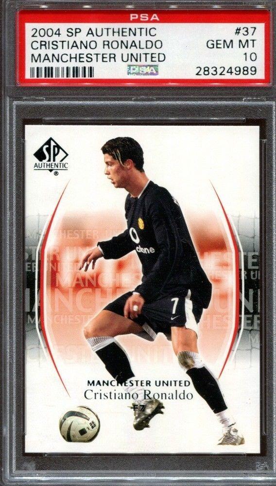 Cristiano Ronaldo 2004 Upper Deck Sp Authentic 37 Rc Manchester United Psa 10 Cristiano Ronaldo Soccer Cards Ronaldo