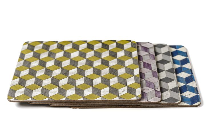 4 large Placemats mixed set Place mats 4 Set Multicolour Art Deco tablemats Mothers Day Gift Geometric Place Mats Retro Wedding Gift by EInderDesigns on Etsy