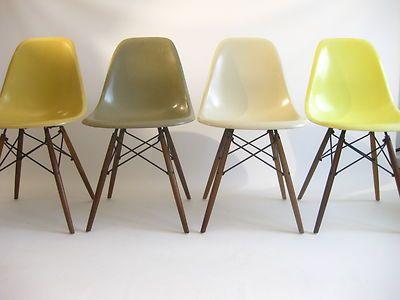 4x charles eames dsw dining chairs stuhl glasfaser herman miller vitra ebay 800 - Fantastisch Tolles Dekoration Charles Eames Schaukelstuhl