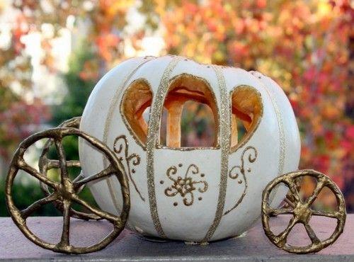 Поделка карета из тыквы