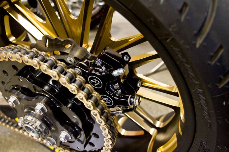 Anodized Black and Gold Boss Wheels - Mickey Rourke's Custom ...