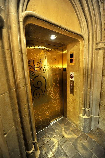 Stay in Cinderella's Castle at Disneyworld  Even the elevator is fit for a princess