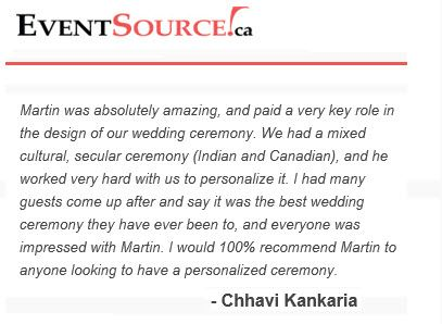 Kind words from Chhavi & Francis who tied-the-knot at the Credit Valley Golf and Country Club