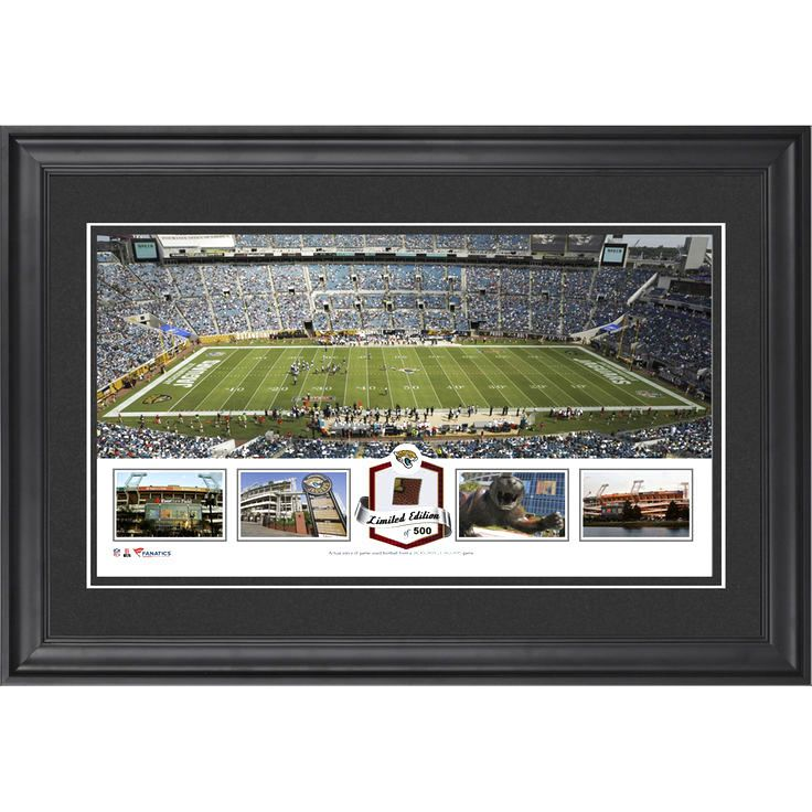 Jacksonville Jaguars Fanatics Authentic Framed EverBank Field Panoramic Collage with Game-Used Football - Limited Edition of 500 - $79.99