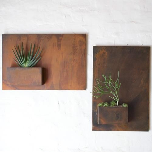 Potted Designs | City Planter By Potted How hard would it be to make this? Rusted steel.
