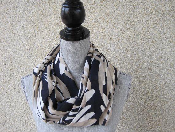 Infinity scarf tube scarf eternity scarf loop by FootlessDesigns, $30.00