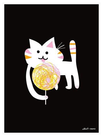 Cat Candy Living Large Poster 18 x 24 by AlbertandMarie on Etsy