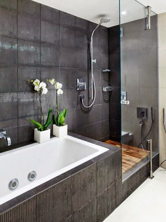 Guarda Para Baño Easy:Black and Grey Bathroom Ideas