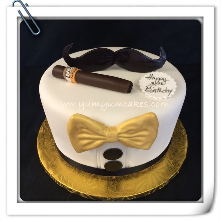 Toxedo Cuban cigar cake