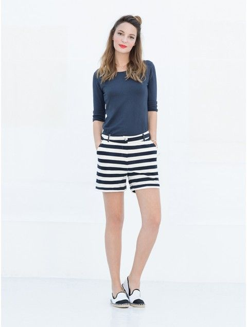 Short Kathleen: Block Stripe