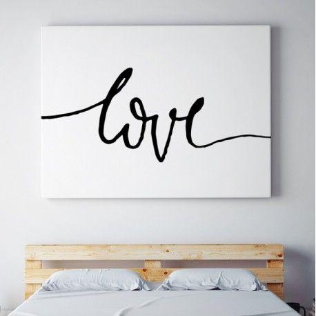 LOVE - Minimalistyczny Obraz na płótnie