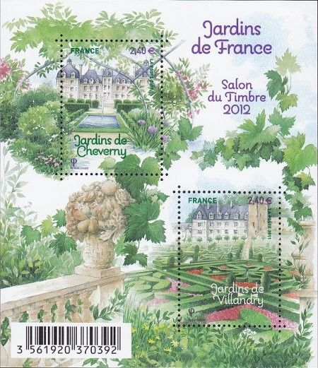 Sello: French garden (Francia) (Stamp Festival Paris 2012) Yt:FR F4580,Mi:FR…