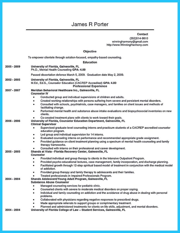 nice Outstanding Counseling Resume Examples to Get Approved, Check more at http://snefci.org/outstanding-counseling-resume-examples-get-approved