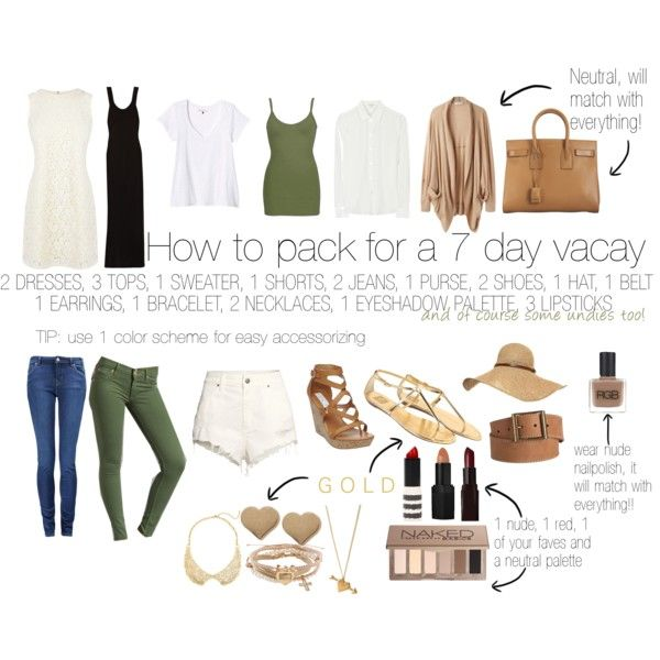 How to pack for a 7 day vacay