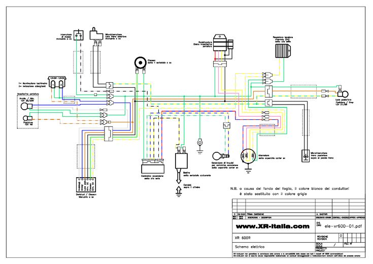 Xr600 Wiring Diagram With Honda Xr 600 Pdf 1 For And