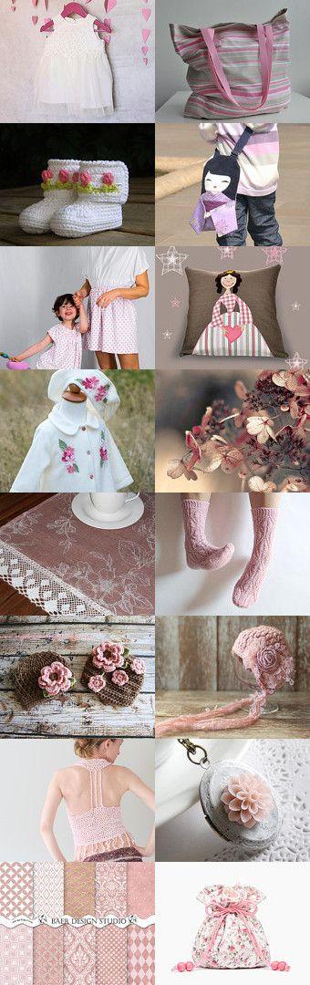 Sweet pink lady by Dorota Kościelniak on Etsy--Pinned with TreasuryPin.com