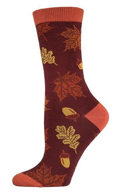 The Joy of Socks - Brown Autumn Leaves Bamboo Socks (Women's), $10.00 (http://www.joyofsocks.com/brown-autumn-leaves-bamboo-socks-womens/)