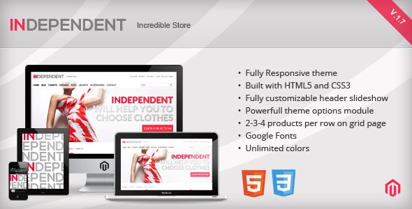 Deals Independent - Responsive Magento ThemeYes I can say you are on right site we just collected best shopping store that have