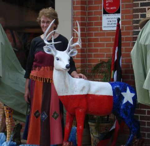 Llano Artist Janet Mason with her Lonestar Deer | Llano, Texas