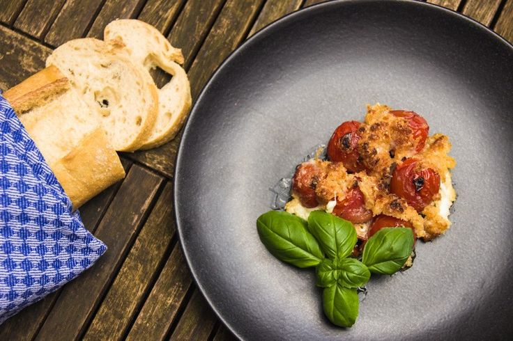 Gratinierte Tomaten aus dem Steakreaktor