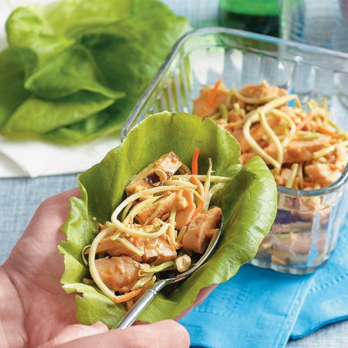 Grilled Chicken And Broccoli Slaw Wraps Recipe — Dishmaps