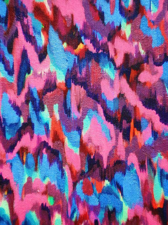 Preppy Ikat Pixel 12 x 16 Canvas Print by LColeStudios on Etsy, $95.00