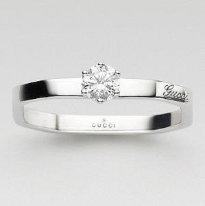 オクタゴナル ソリテール リング - GUCCI(グッチ)の婚約指輪