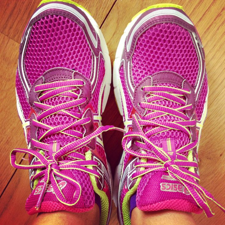 Love #pink #asics #trainers #fitness