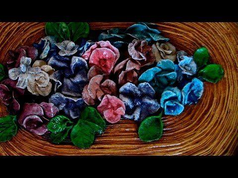 FLORES DE MASA DE PAPEL - PAPER MASS FLOWERS - YouTube