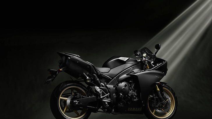 Black Sports Bike Yamaha Yamaha Yzf R1 Motorcycle Vehicle Hd Wallpaper Yamaha Yzf Yamaha Yzf R1 Yamaha Black motorcycle wallpaper hd