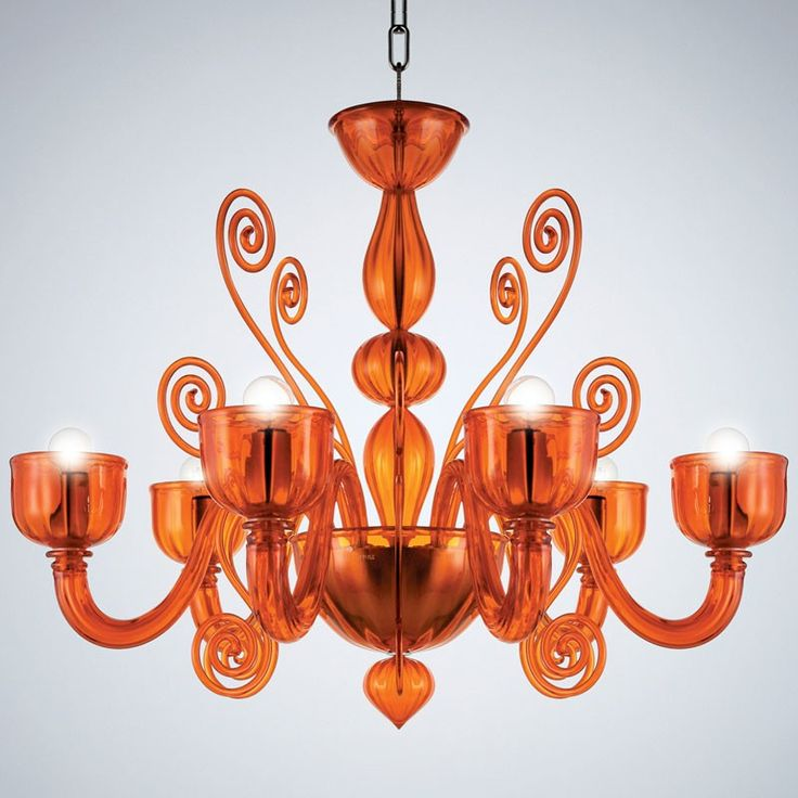 La Murrina Chandelier Glamour S 6 Orange