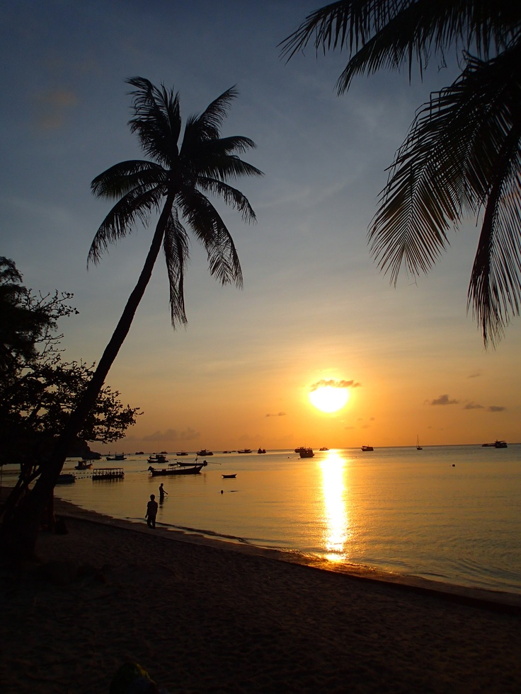 Last holiday on Koh Tao. Perfect sunset as a farewell gift