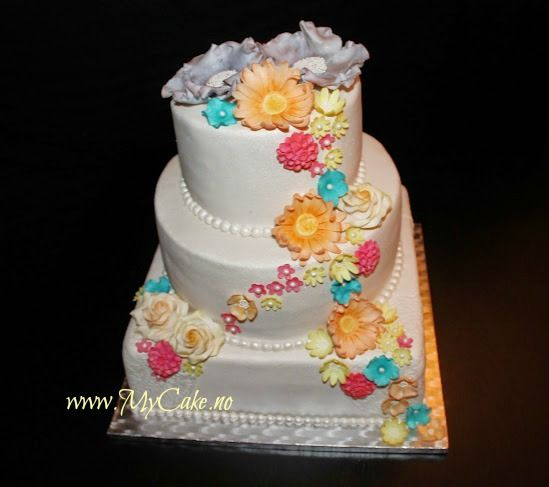 weddingcake summer wedding www.mycake.no https://www.facebook.com/pages/Mycake/518427724909847