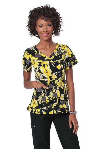 Free Shipping on any order! Number one choice for name brand Nursing Scrubs, Nursing Shoes and Medical Accessories. Koi Floral Drift Kathryn Print Style 115-FDR Scrub Top. www.ScrubAnnex.com