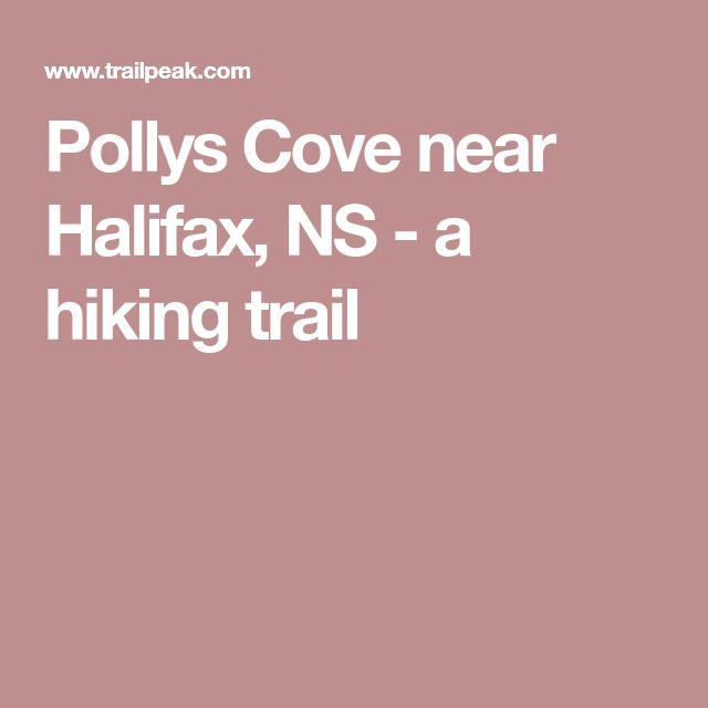 Pollys Cove near Halifax, NS - a hiking trail