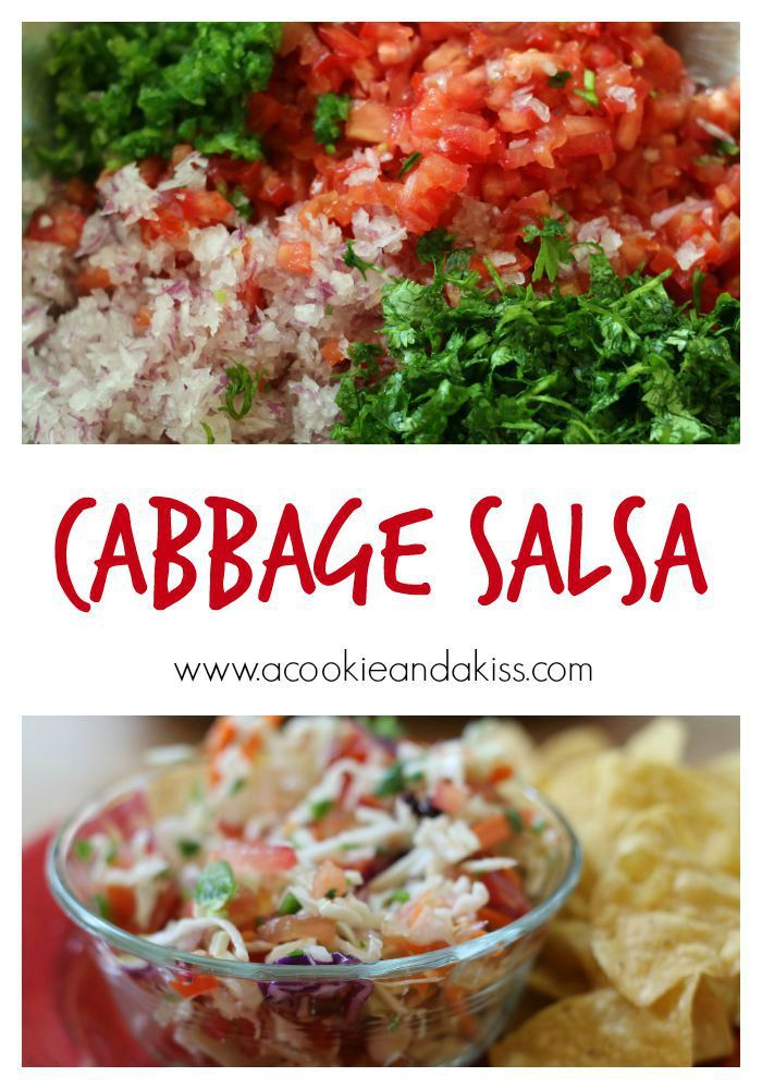 Cabbage Salsa -  A Cookie & A Kiss