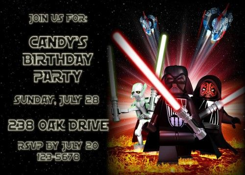29 best images about Star Wars Lego Party – Star Wars Party Invitations Printable