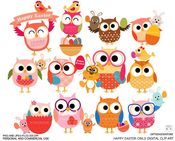 free easter owl clip art - photo #19