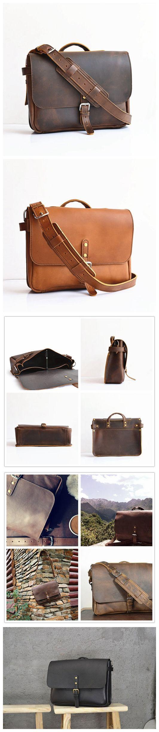 US Postal Bag Mens Leather Messenger Bag Men Leather Messenger Bag For Men Mens…