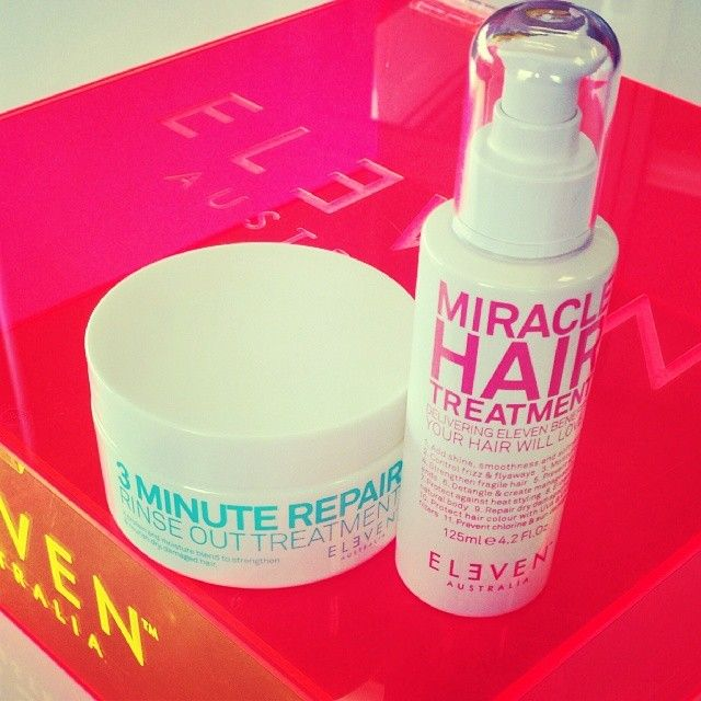 Treat yourself this weekend with #MiracleHairTreatment and #3MinuteRepair #ELEVENAustralia