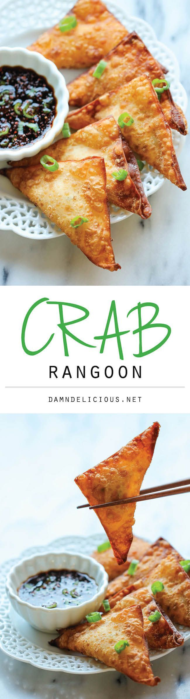 JANUARY Crab Rangoon - This crisp, fried wonton is loaded with cream cheese and crab goodness, and it's an absolute party favorite!