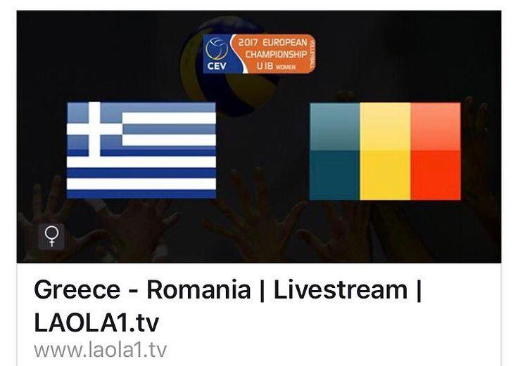 #EuroVolleyU18W tonight Romania - Greece #ourgirls #GoGirls #victory #team_romania_volleyball #frvolei #romaniangirls #romania #RomaniaU18