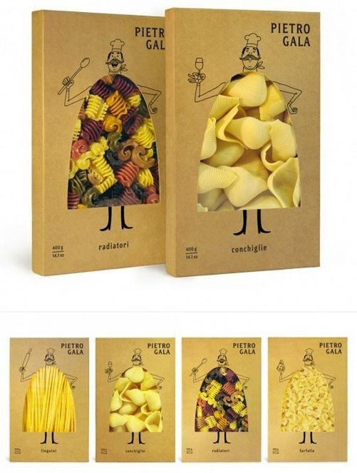 These packages of pasta. | 34 Insanely Cute Packaging Ideas You Need To See