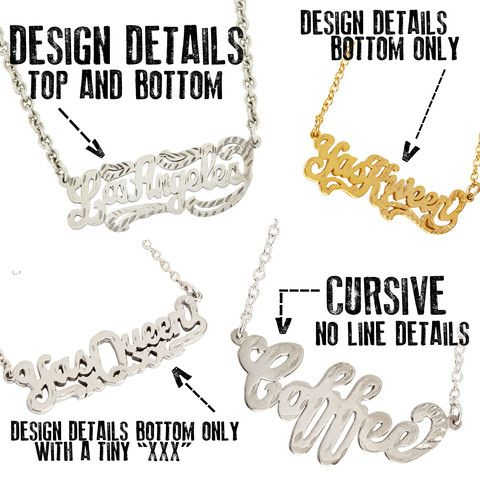 Custom One-Line Nameplate Necklace