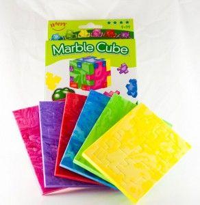 Marble Cube - przestrzenne klocki piankowe (kompl. 6 układanek o różnym stopniu trudności)