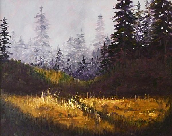 Foggy Morning Oil Painting by Nancy Merkle; Original and Fine Art Reproductions for Sale